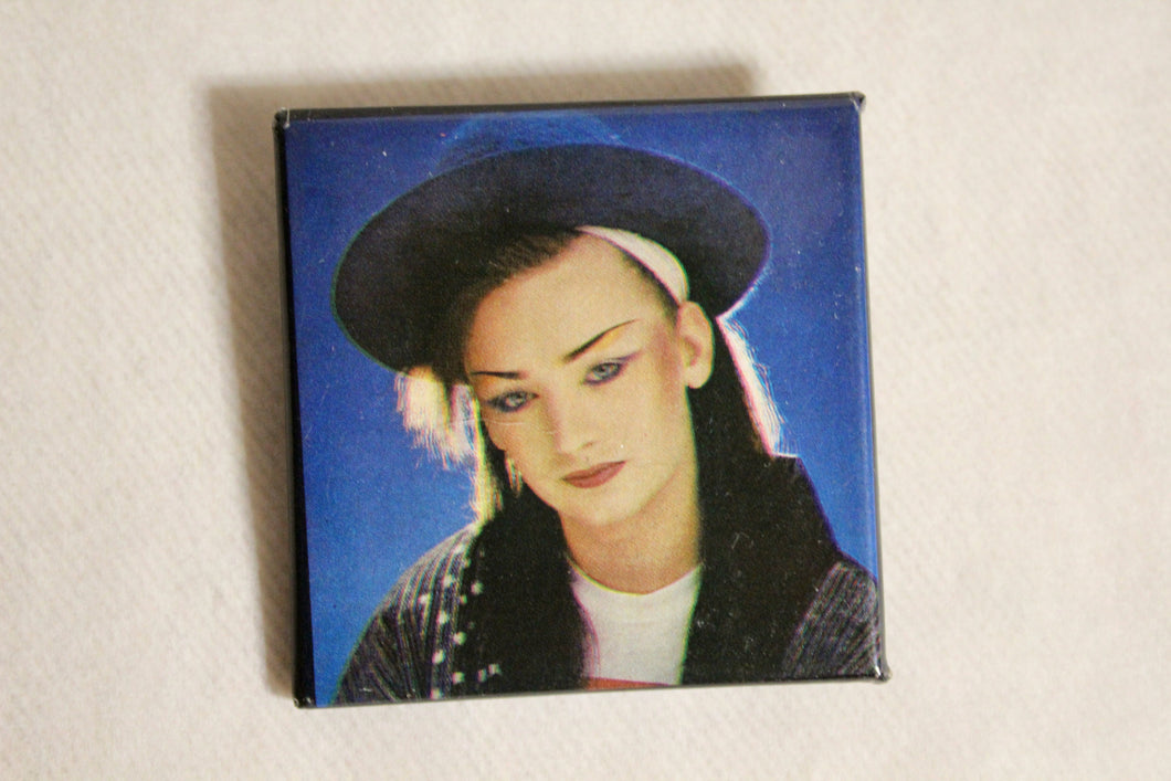 Retro Button - Boy George Square 2