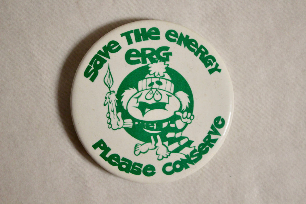 Retro Button - Please Conserve