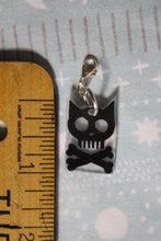 Load image into Gallery viewer, Cat Skull Charm