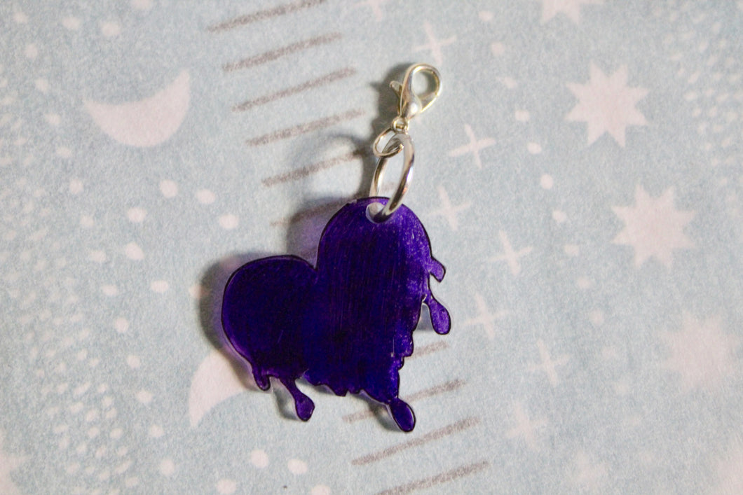 Bleeding Purple Heart Charm