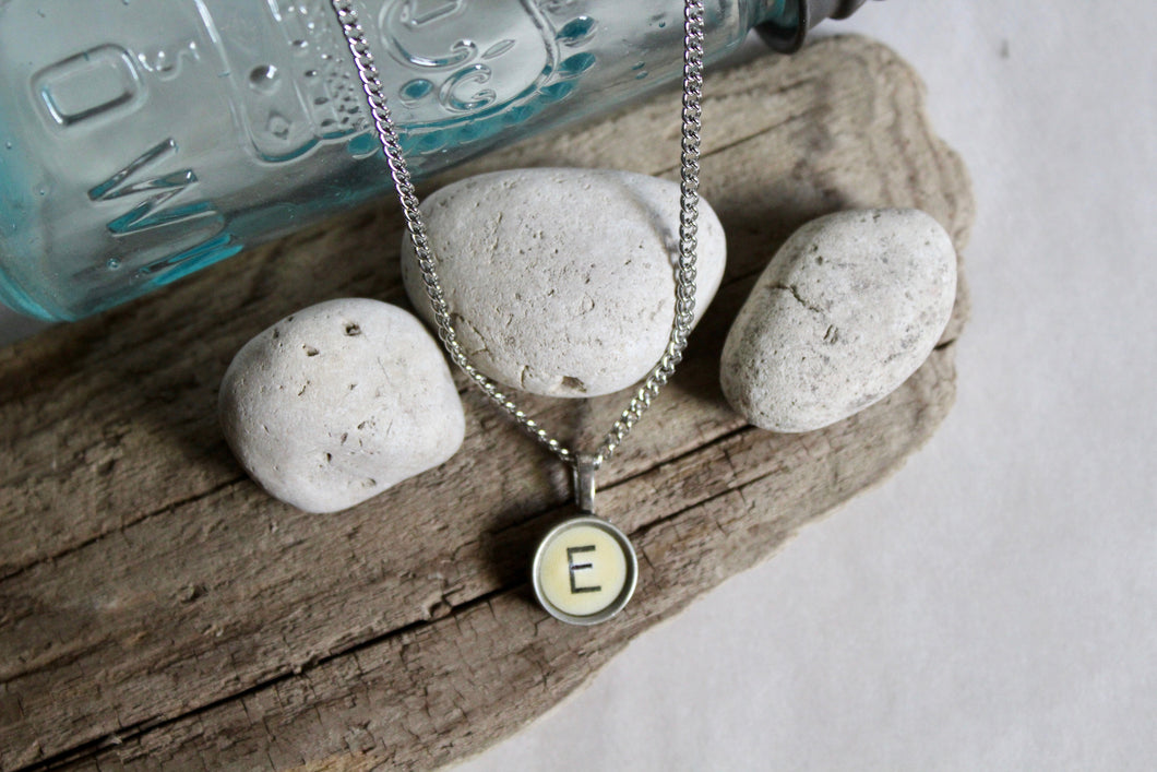 Typewriter Key Necklace E
