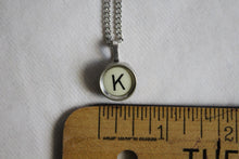 Load image into Gallery viewer, Typewriter Key Necklace K