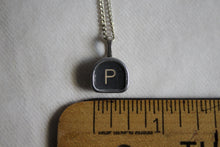 Load image into Gallery viewer, Typewriter Key Necklace P