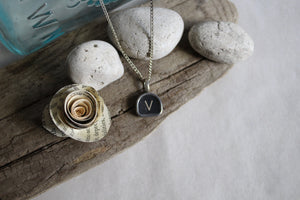Typewriter Key Necklace V