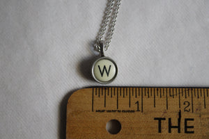Typewriter Key Necklace W