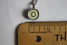 Load image into Gallery viewer, Typewriter Key Necklace O