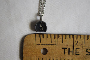 Typewriter Key Necklace #3