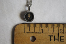 Load image into Gallery viewer, Typewriter Key Necklace #7 / &
