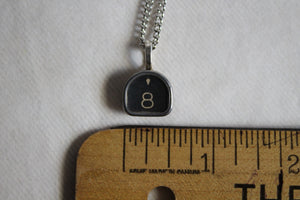 Typewriter Key Necklace #8