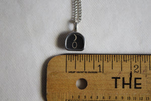 Typewriter Key Necklace #0