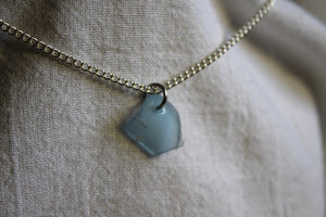 Beach Glass Necklace - Blue Crown