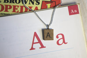 Scrabble Tile Necklace - A