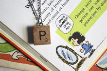 Load image into Gallery viewer, Scrabble Tile Necklace - P