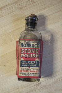 Nonsuch Stove Polish bottle