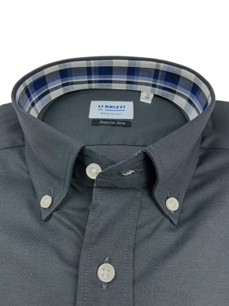 London | Stilvolles und modernes Slim Fit Herrenhemd mit Kontrastdetails - Li Brizzi Shirt