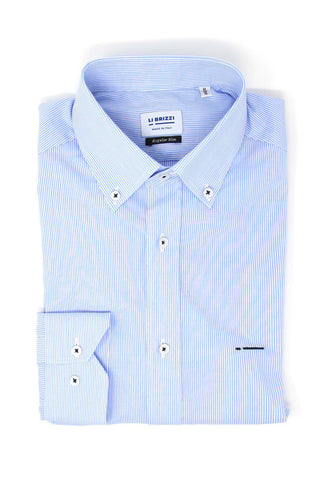 El Paso | Comfortable Non-Iron 100% Cotton Poplin Slim Fit Men's Dress Shirt - Li Brizzi Shirt