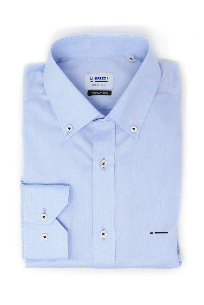 Houston | Must-Have Non-Iron Slim Fit Men's Dress Button Down Shirt with contrast stitching - Li Brizzi Shirt