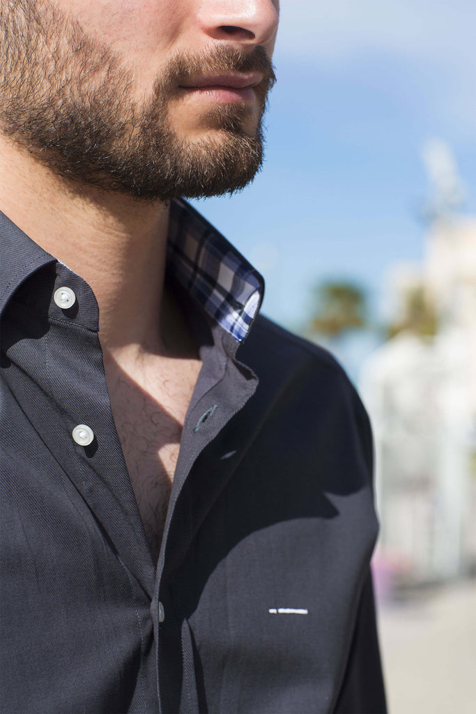 London | Stylish and Modern Slim Fit Men's Dress Shirt with contrast details - Li Brizzi Shirt