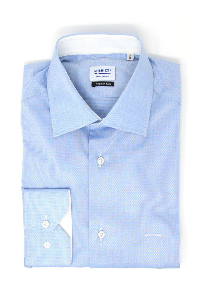 Melbourne | Stylish Modern Slim Fit White Men's Dress Shirt with White contrast - Li Brizzi Shirt