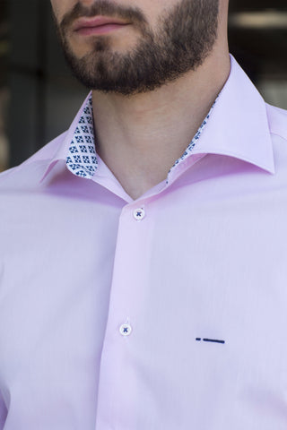 Paris | Slim Fit Pink Leichtes und atmungsaktives Herrenhemd - Li Brizzi Shirt