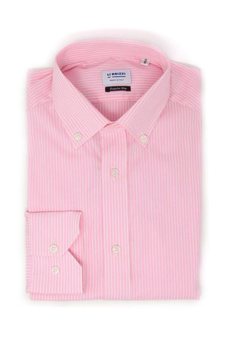 Scottsdale | Slim Fit Breathable and Lightweight Pink Men's Dress Shirt - Li Brizzi Shirt