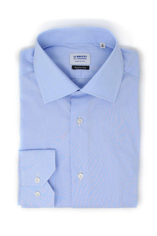 Zurich | All-Season Breathable Slim Fit Blue Men's Dress Shirt - Li Brizzi Shirt