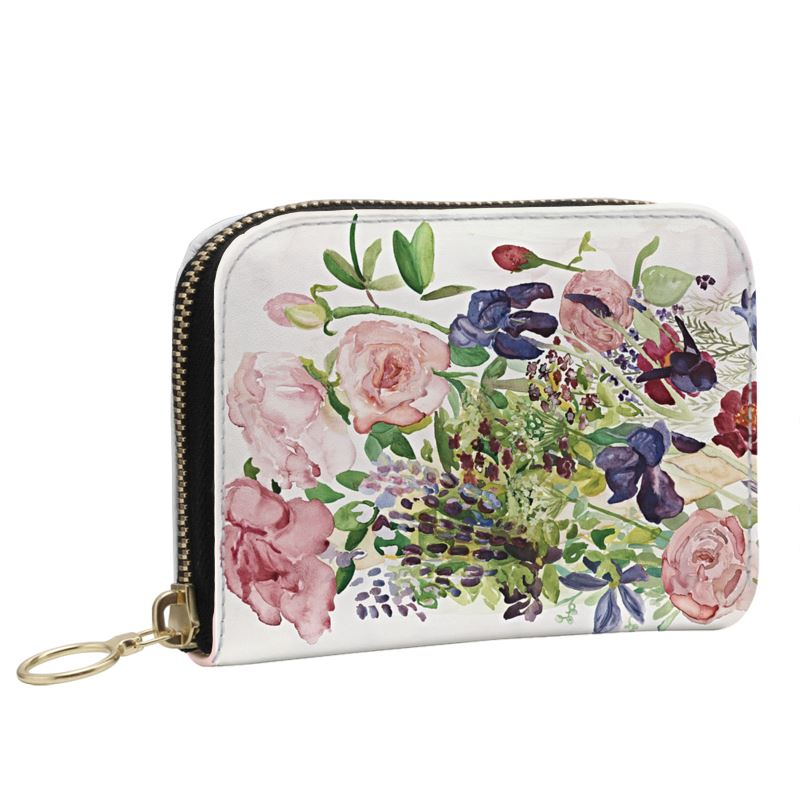Summer Roses Leather Purse