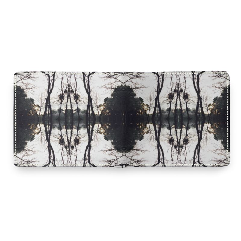 Leather Wallet, Lake Scene