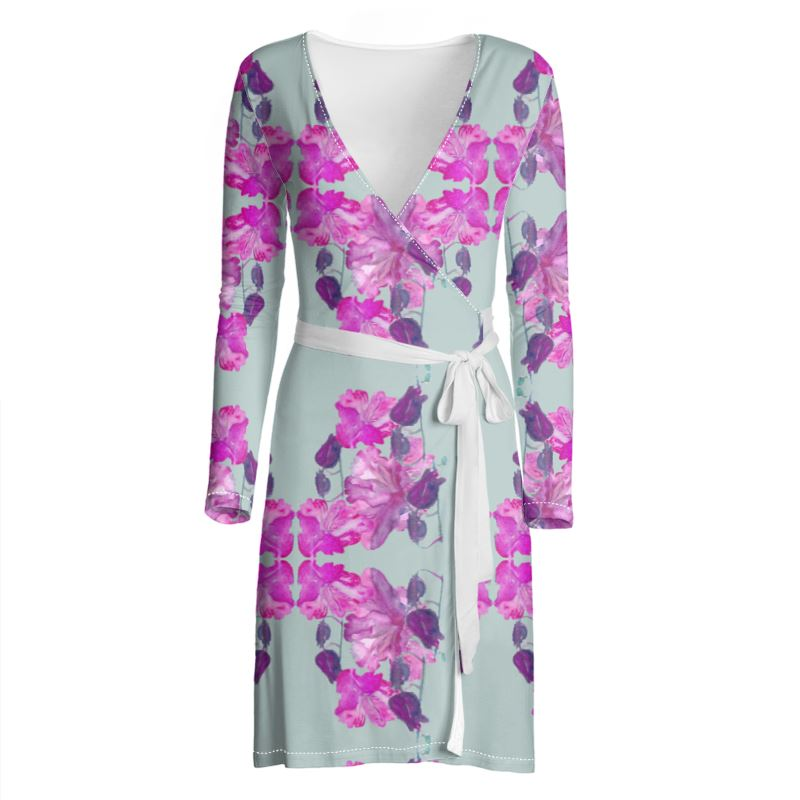 Rhododendron Wrap Dress
