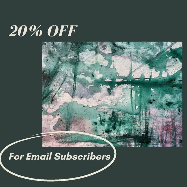 20% Off today for email subscribers, Purple & Green Abstract Painting