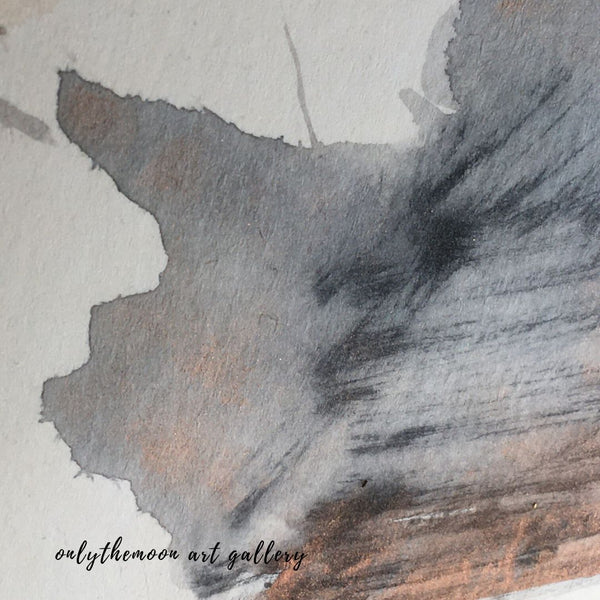 Image 5: Change of scene, Works in Progress Detail, Abstract Grey Black Watercolour Shape Rotated, by Onlythemoon
