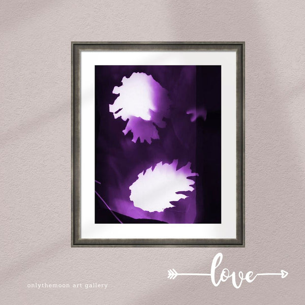 Purple Pine Cones Framed Art Print by Onlythemoon