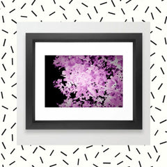 Purple Leaves Framed Art Print
