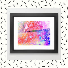 Under The Trees Colorful Framed Art Print