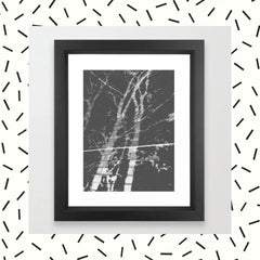 Monochrome Brick Trees Framed Art Print