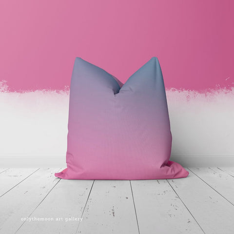 Relax Pink & Blue Throw Pillow by Onlythemoon