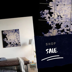 Blue Leaves, Wood Wall Art, Shop the Sale