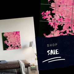Pink Leaves, Wood Wall Art, Shop the Sale
