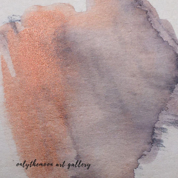 Image 3: Change of scene, Works in Progress Detail, Abstract Orange Grey Watercolour Shape, by Onlythemoon