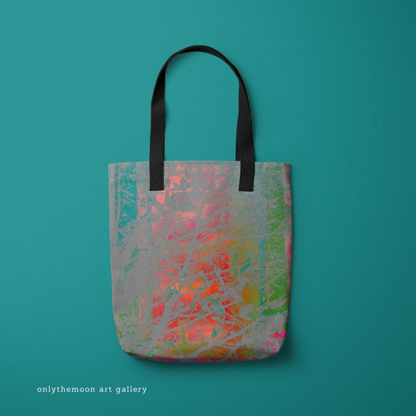 Tote Bag mock up featuring Onlythemoon's Red Sky at Night artwork design