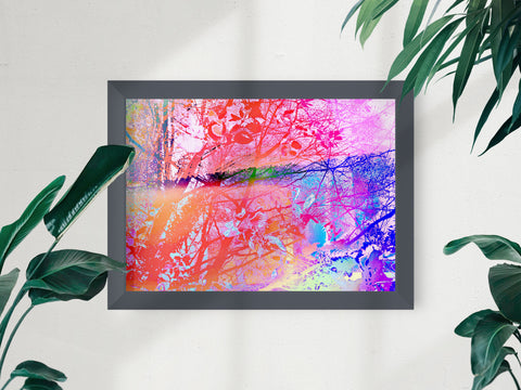 Under the Trees Colorful Limited Edition Print