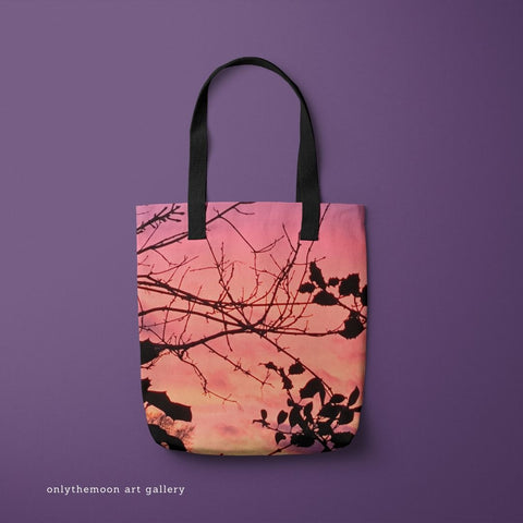 Holly Tree Sunset 1 Tote Bag by Onlythemoon