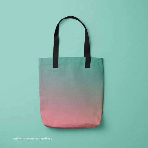 And Relax Teal & Pink Tote Bag by Onlythemoon