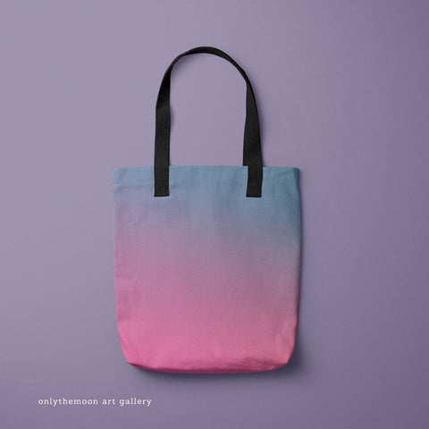 Relax Pink & Blue Tote Bag by Onlythemoon