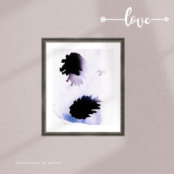 Purple Blue and White Pine Cones Framed Art Print by Onlythemoon