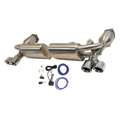 PORSCHE 911 997.1 TURBO VALVETRONIC EXHAUST WITH TAILS