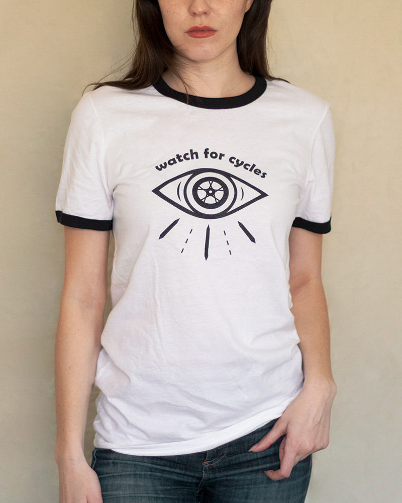 Watch for Cycles Ringer T-Shirt