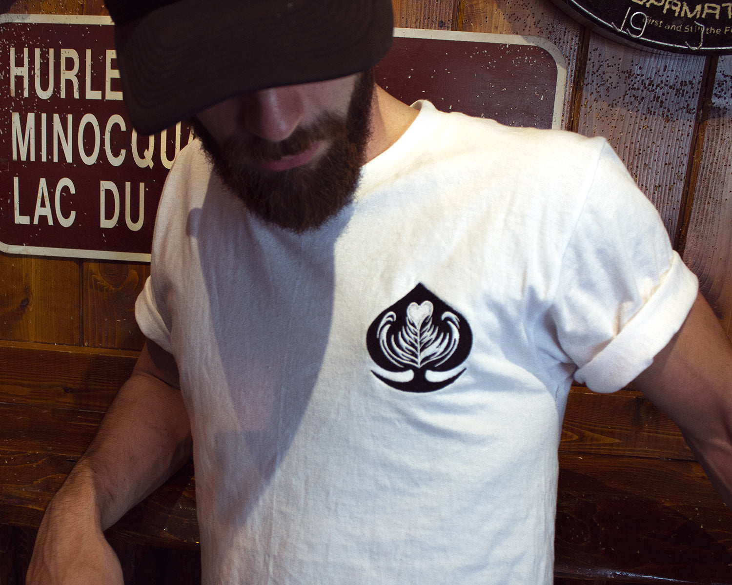 Ace of Cafes Embroidered Tee - White