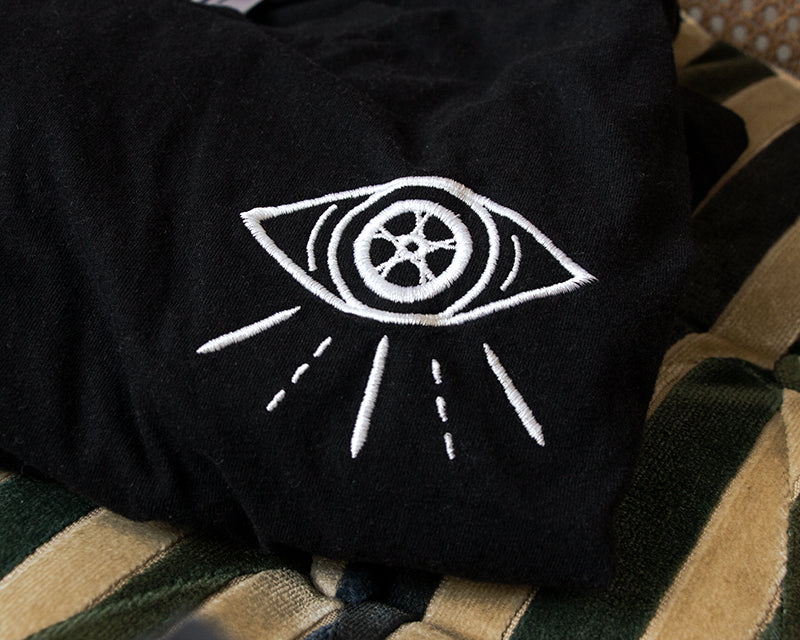 Watch for Cycles Embroidered Tee - Black