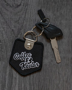 Coffee & Kevlar Double Sided Key Chain